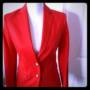 BENETTON RED BLAZER JACKET